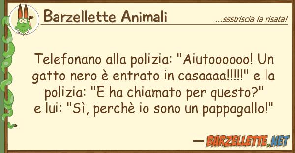 """Barzellette Animali telefonano polizia: """"aiutoooooo!"""