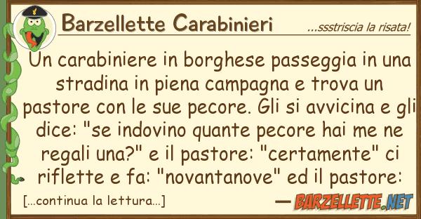 Barzellette Carabinieri carabiniere borghese passeggia