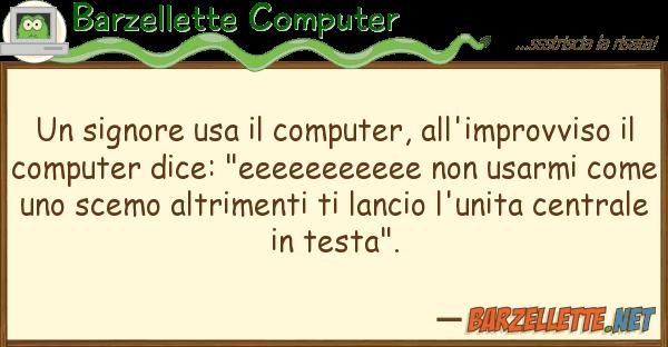 Barzellette Computer signore usa computer, all'improvvi