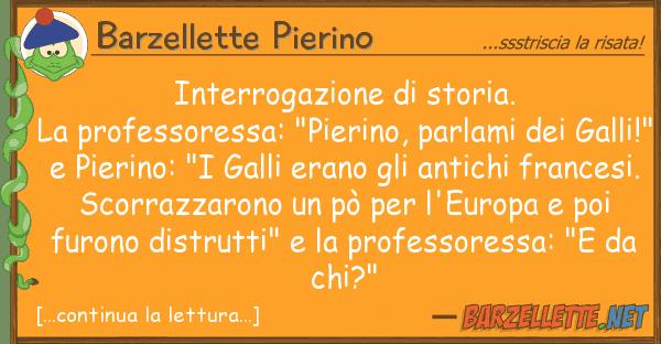 Barzellette Pierino interrogazione storia. la professore