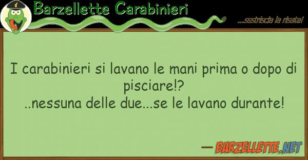 Barzellette Carabinieri carabinieri lavano mani prima