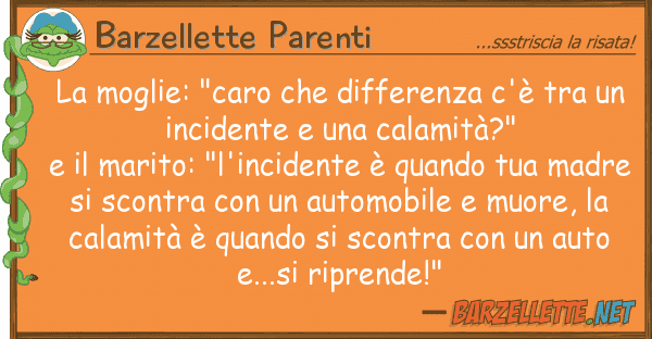 "Barzellette Parenti moglie: ""caro differenza c'?"