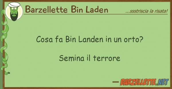 Barzellette Bin Laden cosa fa bin landen orto? semina
