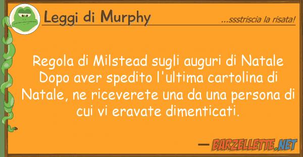 Leggi di Murphy regola milstead auguri natal
