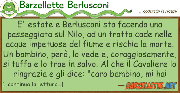 Barzellette Berlusconi e' estate berlusconi sta facendo p