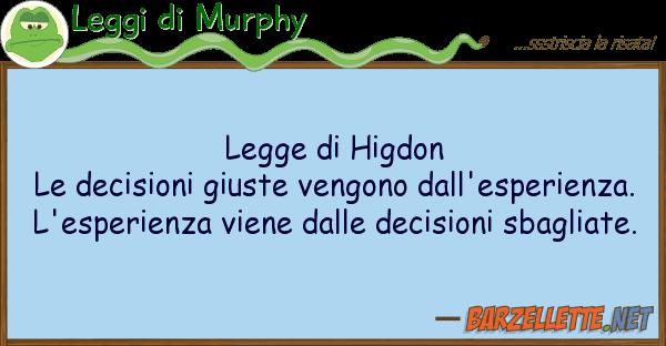 Leggi di Murphy legge higdon le decisioni giuste veng