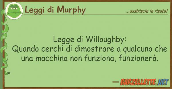 Leggi di Murphy legge willoughby: quando cerchi