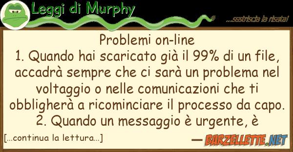 Leggi di Murphy problemi on-line 1. quando hai scaricato