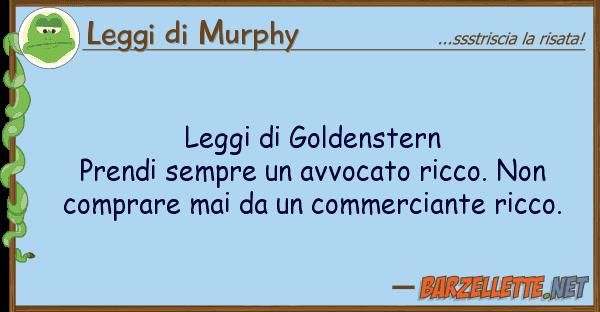 Leggi di Murphy leggi goldenstern prendi sempre av
