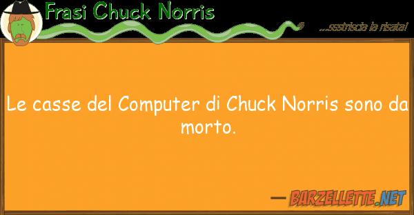 Frasi Chuck Norris casse computer chuck norris so