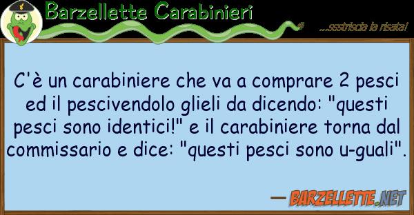 Barzelletta c 39 un carabiniere che va a comprare 2 pesci for Comprare pesci