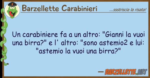 """Barzellette Carabinieri carabiniere fa altro: """"gianni"""
