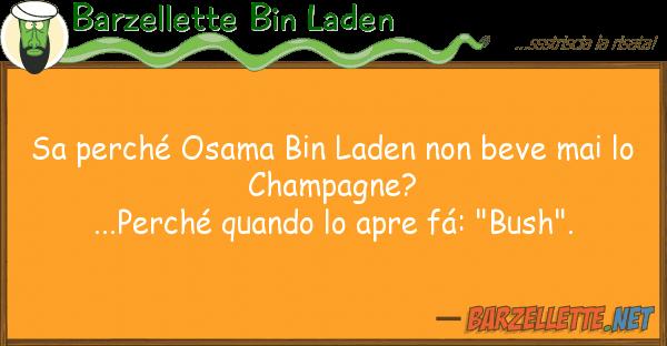 Barzellette Bin Laden sa perch? osama bin laden beve mai
