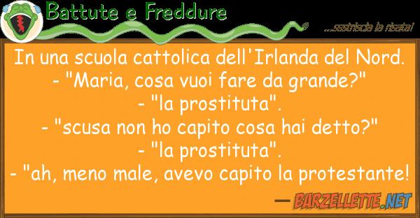 Battute e Freddure scuola cattolica dell'irlanda