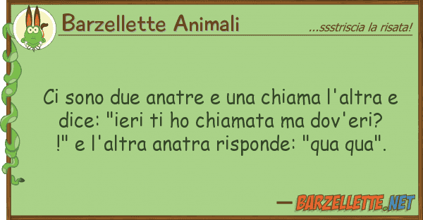 Barzellette Animali sono due anatre chiama l'altra