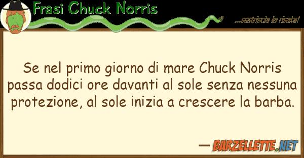 Frasi Chuck Norris primo giorno mare chuck norris