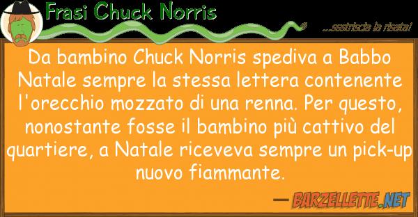 Frasi Chuck Norris bambino chuck norris spediva babbo