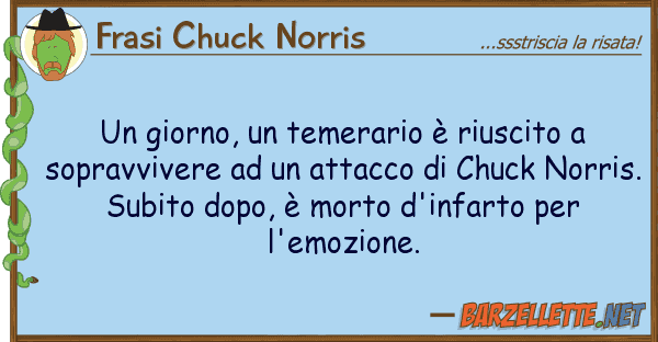 Frasi Chuck Norris giorno, temerario ? riuscito sop