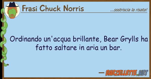 Frasi Chuck Norris ordinando un'acqua brillante, bear gryll