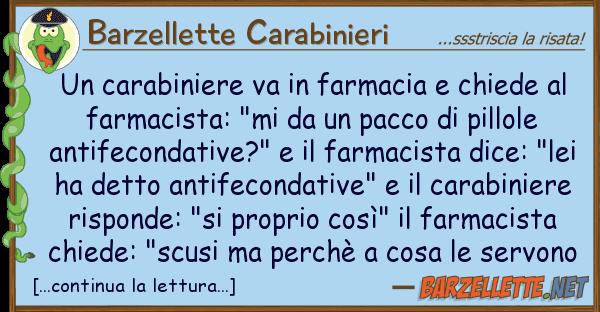 Barzellette Carabinieri carabiniere va farmacia chiede