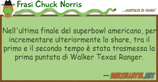 Frasi Chuck Norris nell'ultima finale superbowl america