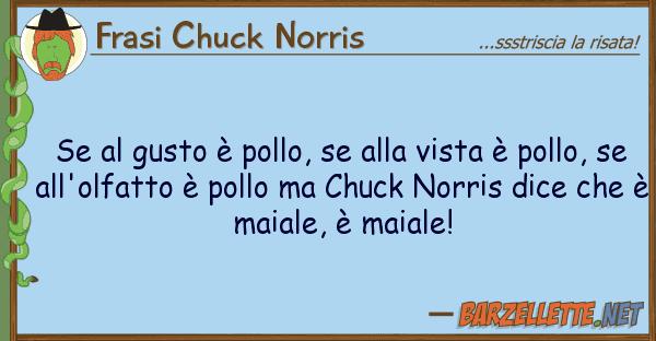 Frasi Chuck Norris gusto ? pollo, vista ? pol