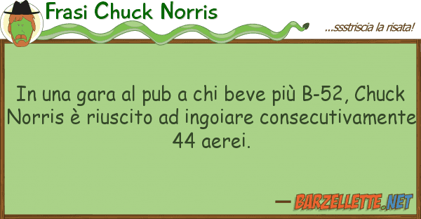 barzelletta in una gara al pub a chi beve pi b 52 chuck norris. Black Bedroom Furniture Sets. Home Design Ideas