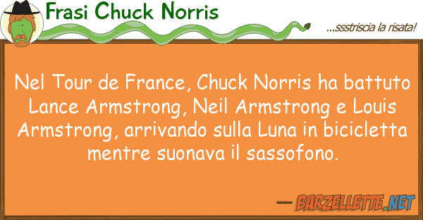 Frasi Chuck Norris tour de france, chuck norris ha batt
