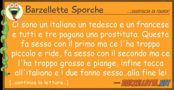 Barzellette Sporche sono italiano tedesco fran