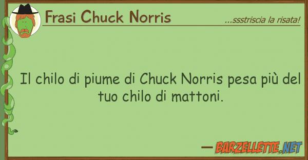 barzelletta il chilo di piume di chuck norris pesa pi