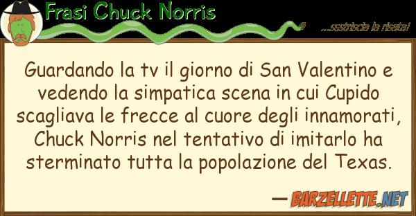 Frasi Chuck Norris guardando tv giorno san valenti