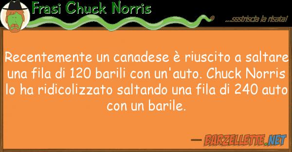 Frasi Chuck Norris recentemente canadese ? riuscito sa