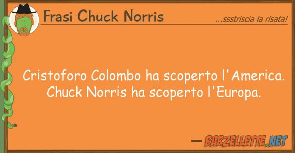 Frasi Chuck Norris cristoforo colombo ha scoperto l'america