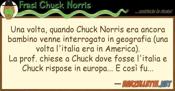 Frasi Chuck Norris volta, quando chuck norris era ancor