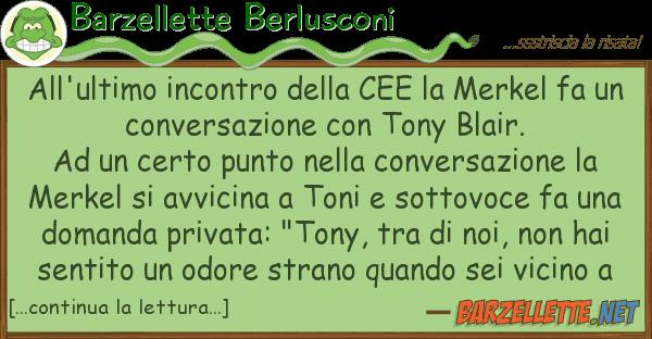 Barzellette Berlusconi all'ultimo incontro cee merkel