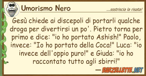 Umorismo Nero ges? chiede discepoli portarli qua