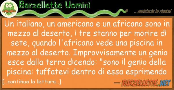 Barzellette Uomini italiano, americano africano