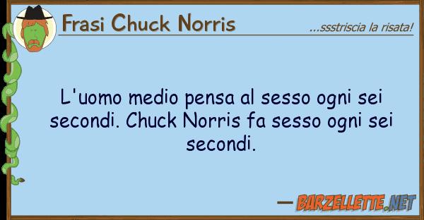 Frasi Chuck Norris l'uomo medio pensa sesso ogni sei sec