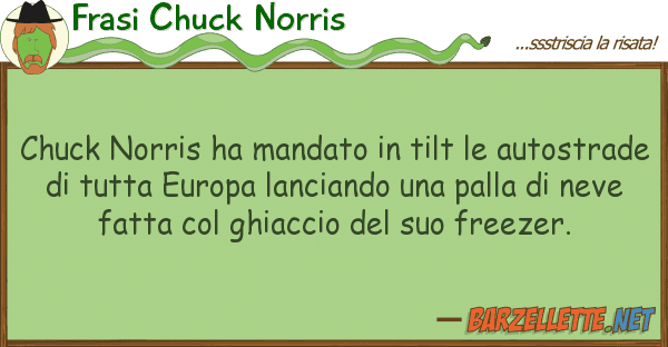 Frasi Chuck Norris chuck norris ha mandato tilt autos