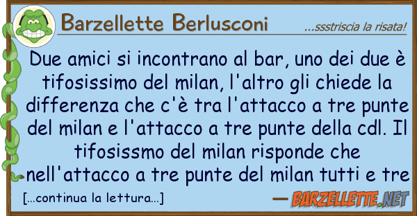 Barzellette Berlusconi due amici incontrano bar,