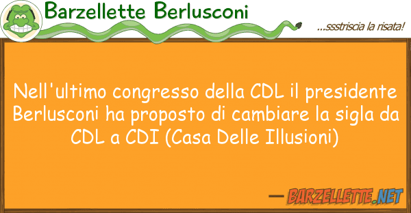 Barzellette Berlusconi nell'ultimo congresso cdl presi