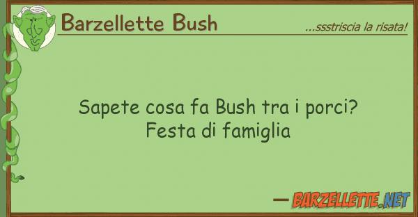Barzellette Bush sapete cosa fa bush porci? festa d