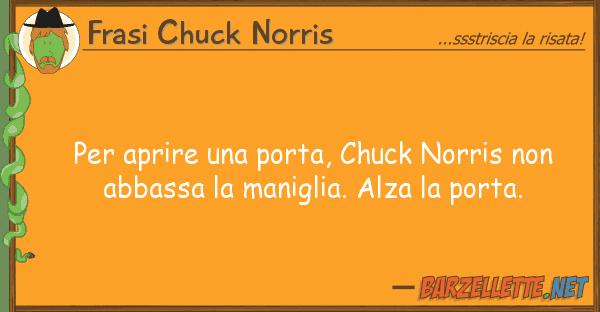 Frasi Chuck Norris aprire porta, chuck norris