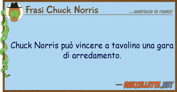 Vincere A Tavolino.Barzelletta Chuck Norris Puo Vincere A Tavolino Una Gara Di