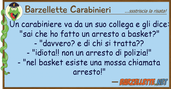 Barzellette Carabinieri carabiniere va collega gl