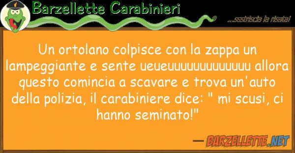Barzellette Carabinieri ortolano colpisce zappa lam