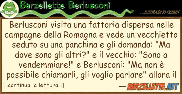 Barzellette Berlusconi berlusconi visita fattoria dispersa