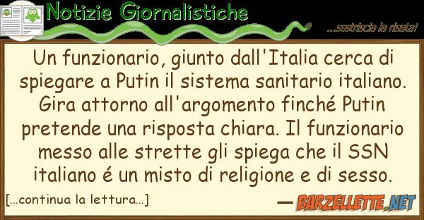 Notizie Giornalistiche funzionario, giunto dall'italia cerca