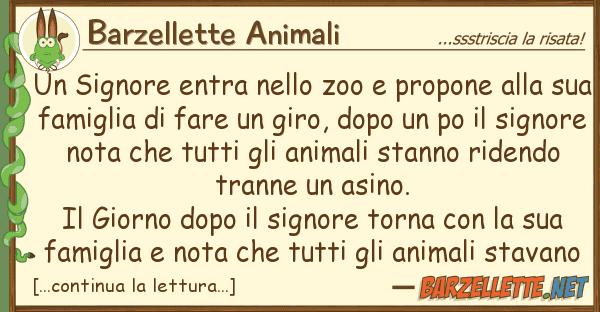 Barzellette Animali signore entra zoo propone