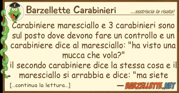 Barzellette Carabinieri carabiniere maresciallo 3 carabinieri